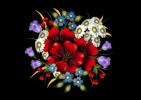 Blumen-Grafik