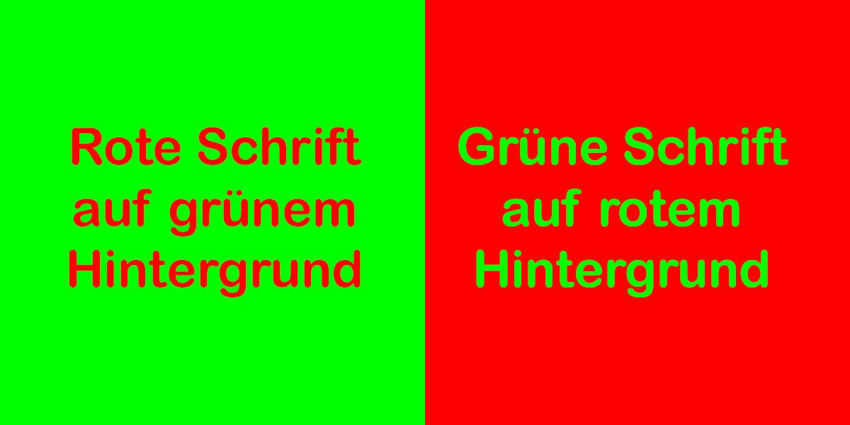 Grün-Rot-Kontrast