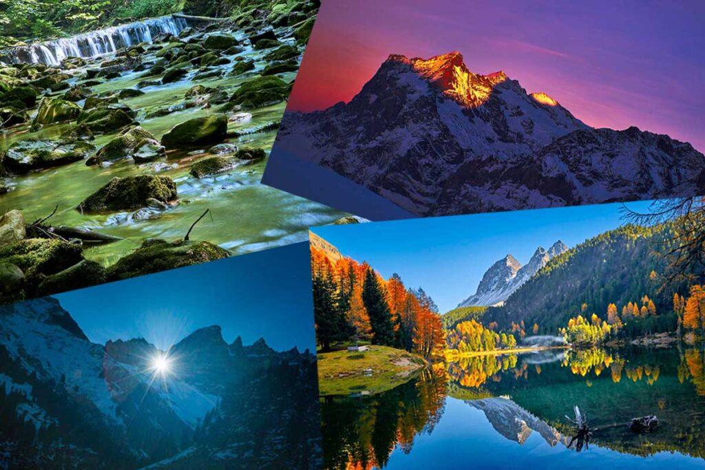 Collage Schweizer Landschaften