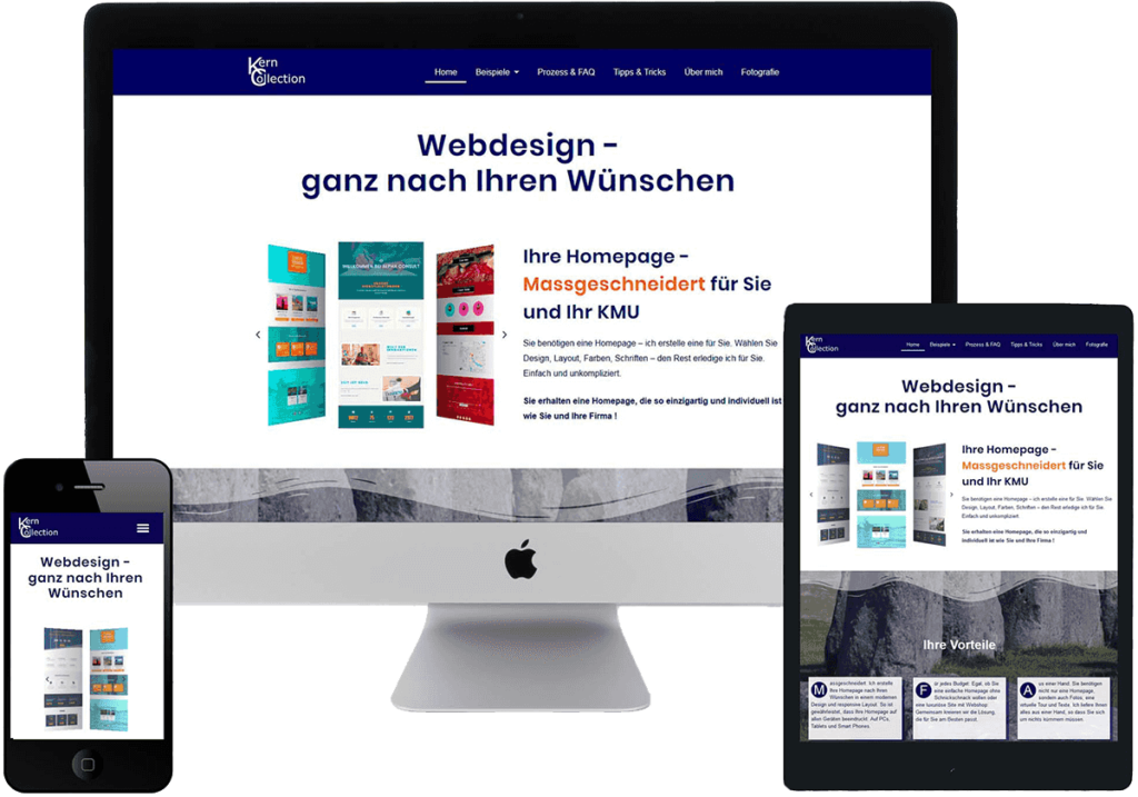 Responsive Webdesign - Screenshots