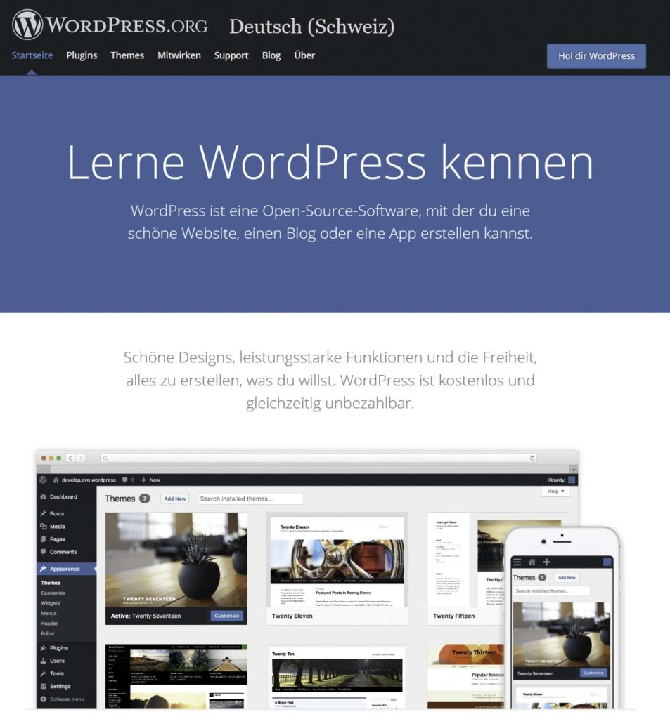 WordPress kennenlernen