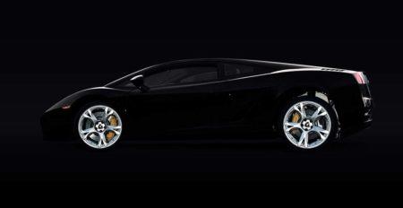 Schwarzer Lamborghini